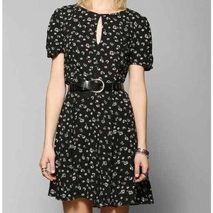 NWOT • UO • fit-and-flare dress w/ button keyhole